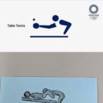 東京オリンピック、卓球のピクトグラムが怪しいと話題に